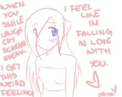 .IM BLUSHING CUZ I LOVE YOU. by ClassyKitteh