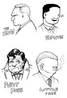Dick Tracy villains 2 by SethWolfshorndl