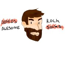 Beards Rock Awesome Socks by AiArisu-chan