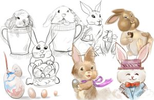 Easter sketches by Ranivius