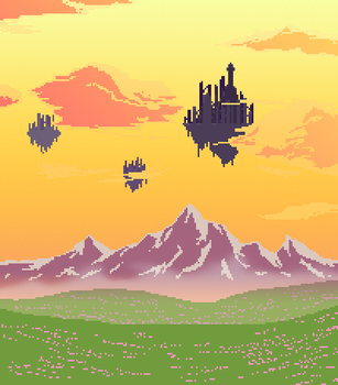 Landscape - Floating Ruins by drin-chan