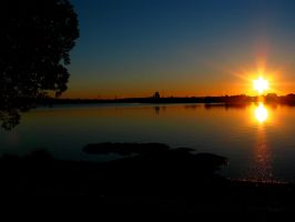 Two Suns on the Shore by agreenbattery
