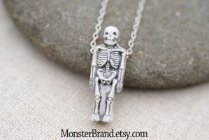 Tiny Skeleton Necklace by foowahu-etsy