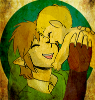 Gift: Link and Daphnes by cromsifing