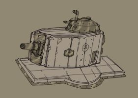 Gun Turret by spacegoblin