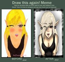 Meme: Before and After by NotPeroxideBlonde
