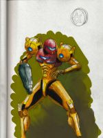 Samus Aran color by MonsieurBaron
