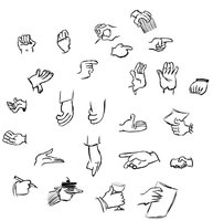 Hamm's Cartoon Hand Studies by ErnieTheMighty