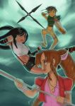 FFVII: Girls Trio Print by peannlui