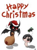 Happy Christmas - Eve and Azazel by juli12355