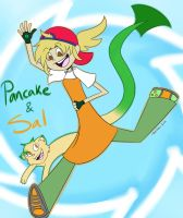 Pancake and Sal: 2012 by Red-Hime