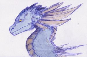 Thirteenth Sanction's New Blue Character by LinmirianJoyrex