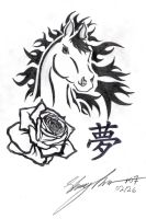 Horse, My Rose Dream by Naitachal666