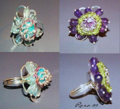 Flower Rings by brillantcolors