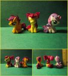 Mini Sculpts Commission: The Cutie Mark Crusaders by minnichi