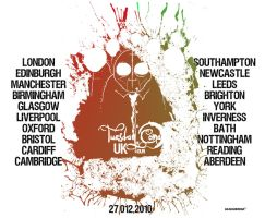 Tuesday coma Uk Tour Poster by akaBadMedia
