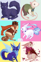 animal friends by Azurice