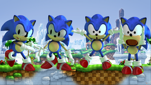 Classic Sonic by Sticklove