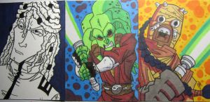 Commissioned Sketch Cards 01 by JoeHoganArt