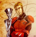 Crimson One and Shining Sage by miumiuchuu
