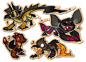 CLOSED 60pt Halloween Themed Creature Adopts by Taiinty