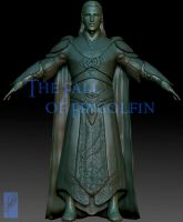 Fingolfin 3D Concept - Front view by Breogan