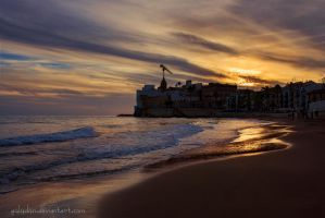 Sitges at sunset by g4l4d4n