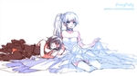 [RWBY] Weiss x Ruby dress by HoneyPanty