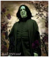 Snape in a Dark Garden by Expell-HUN