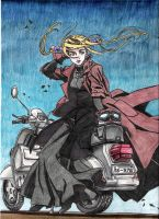 Witch Hunter Robin on scooter by Smithy9