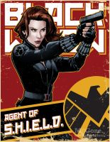 Black Widow, Agent of S.H.I.E.L.D. by mcguan