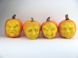 _Creepy Dollhouse Pumpkin Faces_ by Ethereal-Beings