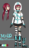 Mako reference sheet by GamerMako