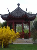 Chinese garden 4 gardenhouse by Noirin-Stock