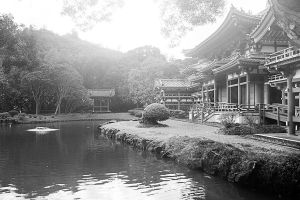 Black and White Buddhist Temple in Kaneohe by tingharp