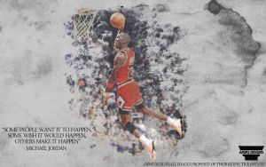 Michael Jordan 'Make It Happen' Wallpaper by AMMSDesings