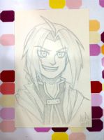 Edward Elric sketch commission by stuffaeamade
