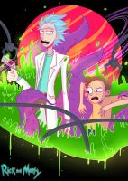 rick and morty by Invader-celes