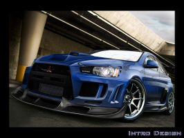 Mitsubishi Lancer Evo X by Intro92