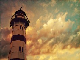 The Lighthouse at the End of Summer by Peterix