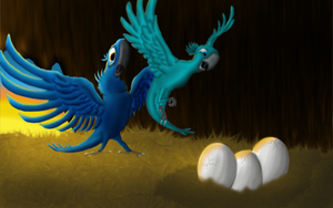 Hatchlings by JaDMcirr