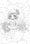 White-leaf flower fairy by tho-be