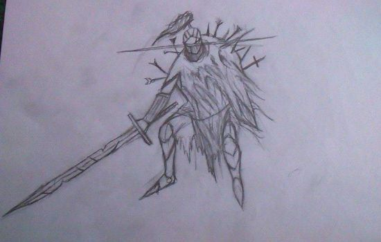 random knight drawing by CRYPTICDrawing