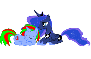 Craterfist and Luna by HuskSummers