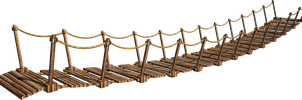 Wooden Bridge 6-A+ | Suspension Bridge 6-A+ | PNG by fumar-porros