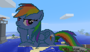 Rainbow Dash in Minecraft by NeodaBIG