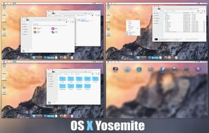 OS X Yosemite SkinPack For Windows 7/8/8.1 by TheDhruv
