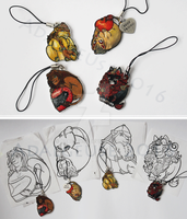 -GIFT- Teeny tiny lion charms by Adalgeuse