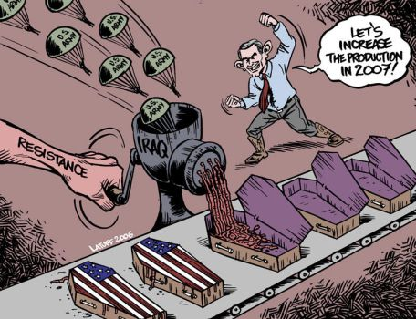 US deaths in Iraq exceed 911 by Latuff2