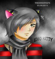 Emo Kitty by THEAIMANDPS